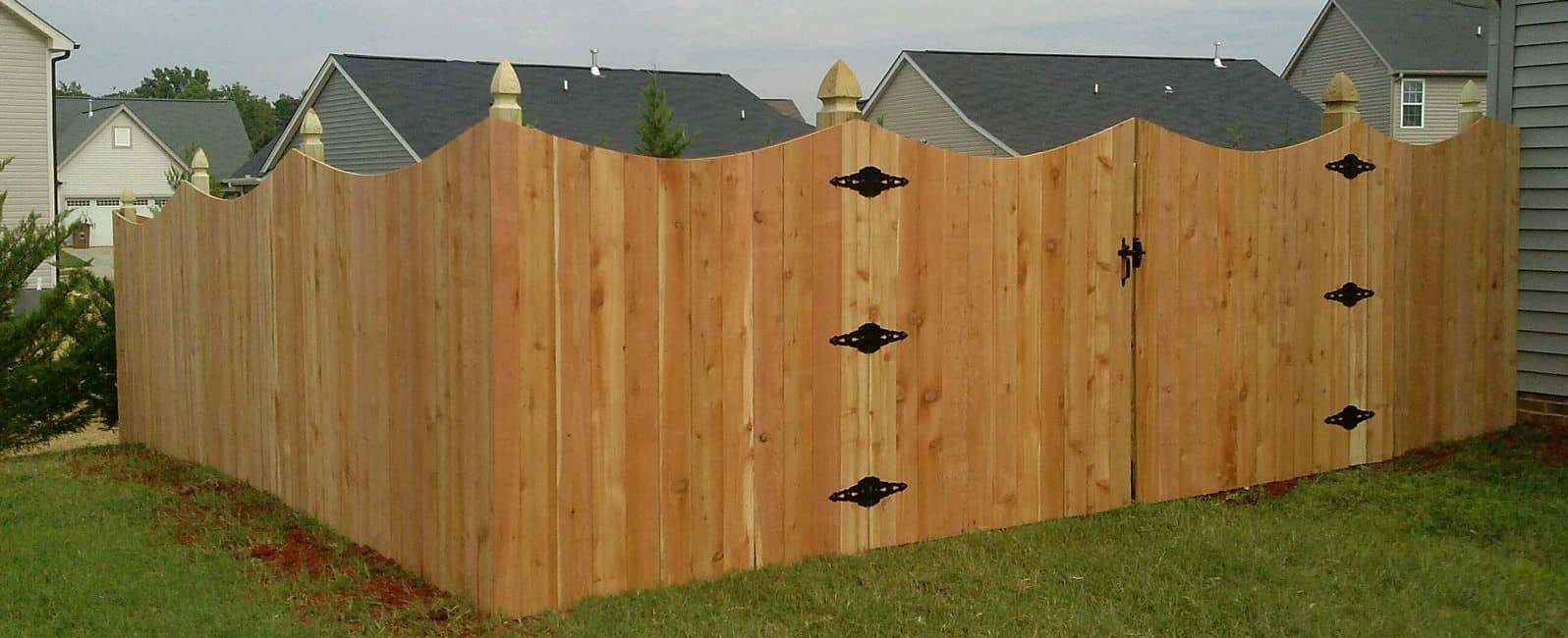 Wood Scalloped Privacy Fence