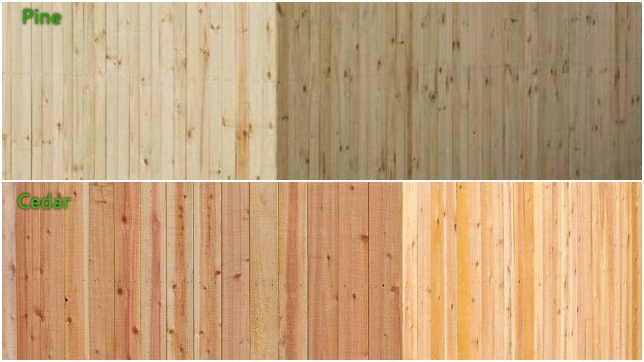When to stain pressure treated wood - When Choosing A Wood Fence Most Of Us Are Faced With Cedar And Pressure Treated Pine It S Easy To Swing In Favor Of Pressure Treated Pine Because It S